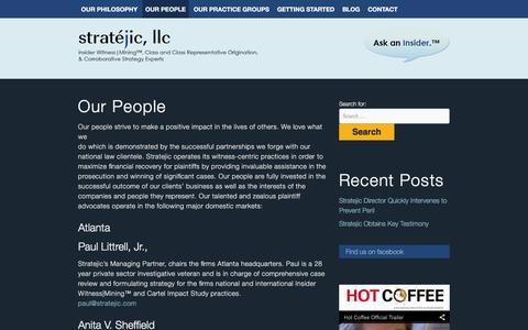 Screenshot of Team Page stratejic.com captured Feb. 16, 2016