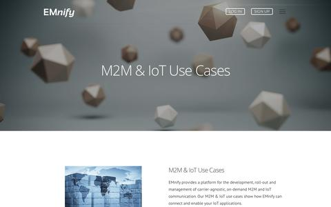 Screenshot of Case Studies Page emnify.com - IoT & M2M Use Cases - Examples by Industry | EMnify - captured July 15, 2018