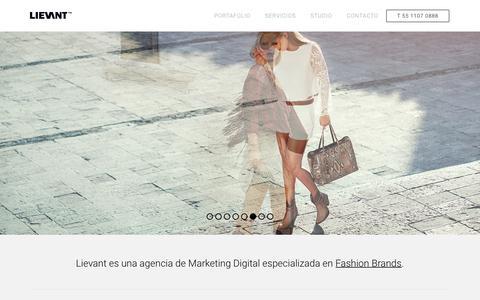 Screenshot of Home Page lievant.com - Lievant   Digital Marketing for Fashion Brands - captured July 19, 2018