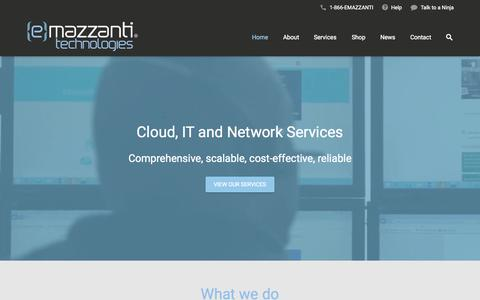 Screenshot of Home Page emazzanti.net - Home - eMazzanti Technologies - captured Nov. 3, 2015