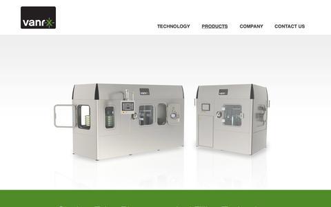 Screenshot of Products Page vanrx.com - Pharmaceutical Filling For Vials, Syringes & Cartridges   Vanrx - captured Oct. 7, 2014