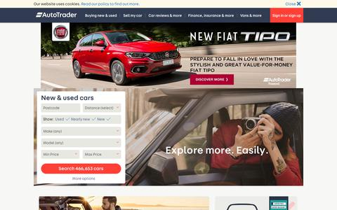 Screenshot of Home Page autotrader.co.uk - Auto Trader UK | Find New & Used Cars for Sale - captured June 13, 2017