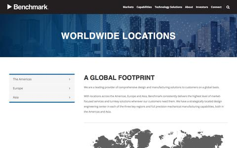 Screenshot of Locations Page bench.com - Worldwide Locations | Benchmark - captured Feb. 15, 2020