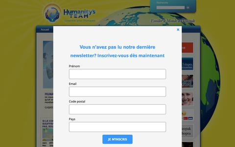 Screenshot of Home Page humanitysteam.fr - Humanity's Team France et Francophonie - captured Oct. 21, 2018