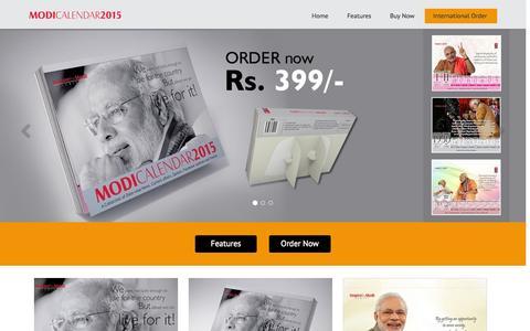 Screenshot of Home Page narendramodicalendar.com - Narendra Modi Calendar 2015, Modi Calendar 2015 - captured Sept. 5, 2015