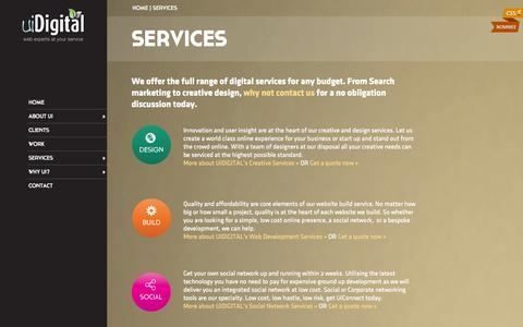 Screenshot of Services Page uidigital.com - Online Digital Services for Businesses in Berkshire - captured Sept. 23, 2014