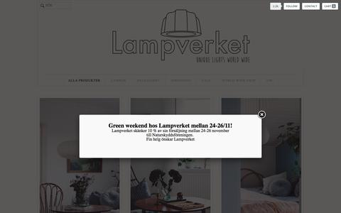 Screenshot of Products Page lampverket.se - Lampverket unika lampor & lampskärmar - captured Nov. 25, 2017