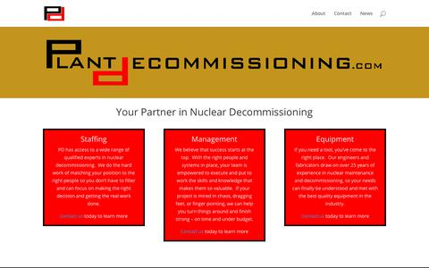 Screenshot of Home Page plantdecommissioning.com - Plant Decommissioning | Your Partner in Decommissioning - captured Aug. 8, 2017