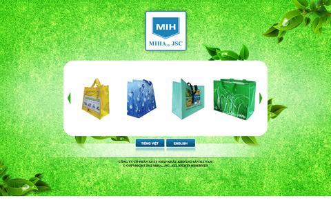 Screenshot of Home Page mih.vn - Công ty Cổ Phần Xuất nhập khẩu Khoáng sản Hà  Nam - captured Oct. 2, 2014