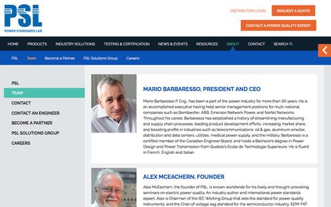 Screenshot of Team Page powerstandards.com - Team - Power Standards Lab - captured Feb. 21, 2018