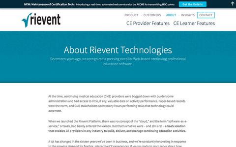 Screenshot of About Page rievent.com - About | Rievent - captured Nov. 16, 2017