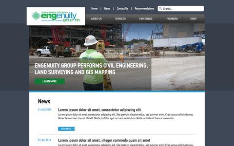 Screenshot of Press Page engenuitygroup.com - Engenuity Group - captured Nov. 2, 2014