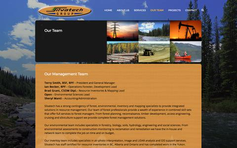 Screenshot of Team Page silvatech.ca - Our Team – Silvatech Group - captured Oct. 21, 2017