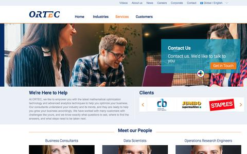 Screenshot of Team Page ortec-consulting.com - Our People - captured May 16, 2018