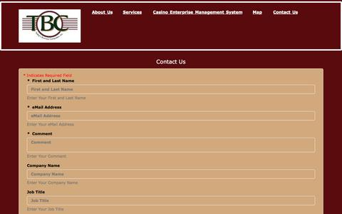 Screenshot of Contact Page tbcusa.com - Contact Us - Today's Business Computers, Inc. - captured Dec. 2, 2016