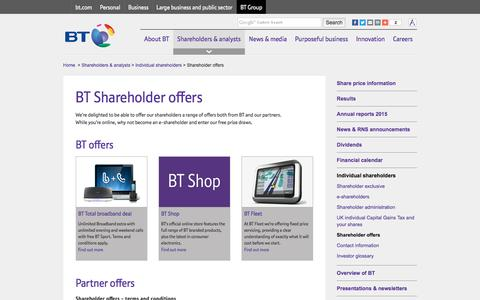 Shareholder offers