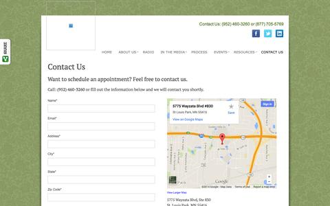 Screenshot of Contact Page securedretirements.com - Contact Us   Secured Retirement Advisors, LLC - captured Nov. 3, 2014