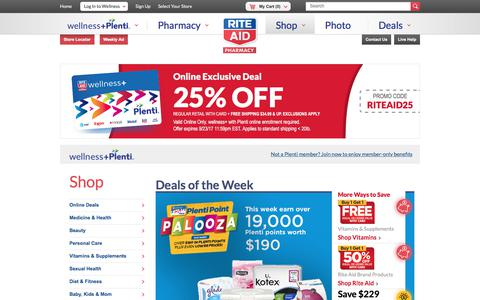Screenshot of riteaid.com - Rite Aid Online Store | Health, Wellness, Household & Beauty Products - captured Sept. 22, 2017