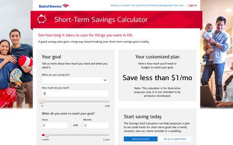 Savings Goal Calculator for Short Term Financial Goals