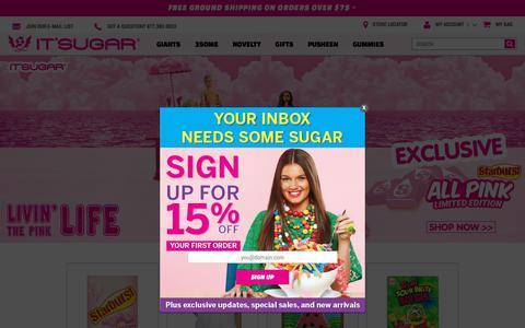 Screenshot of Home Page itsugar.com - IT'SUGAR Candy Store - captured July 13, 2018