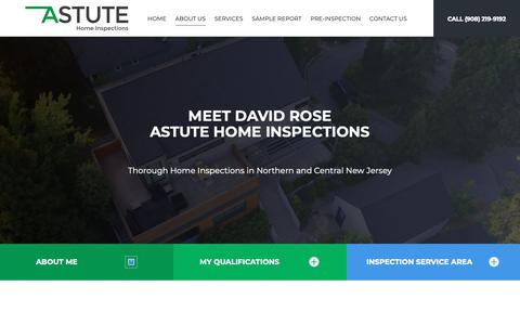 Screenshot of About Page astuteinspections.com - Thorough Home Inspections Union County NJ | Astute Home Inspections - captured Dec. 18, 2018