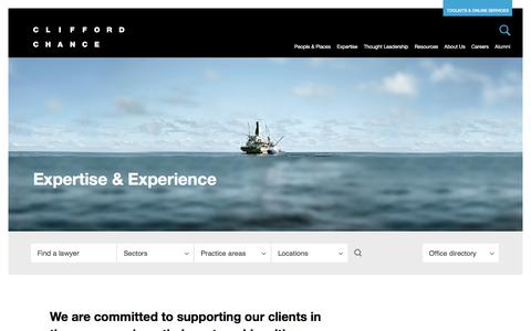 Clifford Chance | Expertise & Experience