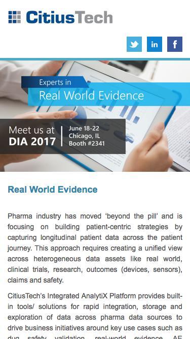 DIA 2017 - Real World Evidence