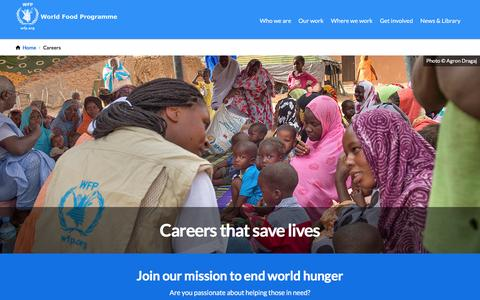 Screenshot of Jobs Page wfp.org - Careers | World Food Programme - captured Oct. 17, 2016
