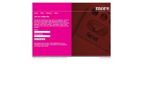 Screenshot of Signup Page moreassociates.com - Register / User -  - More Associates - captured Oct. 7, 2014