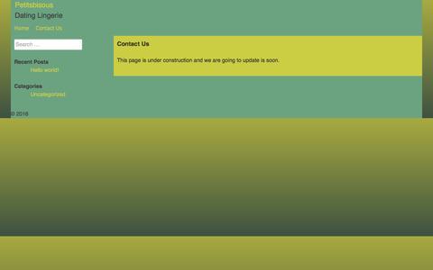 Screenshot of Contact Page petitsbisous.com - Contact Us | Petitsbisous - captured May 16, 2017