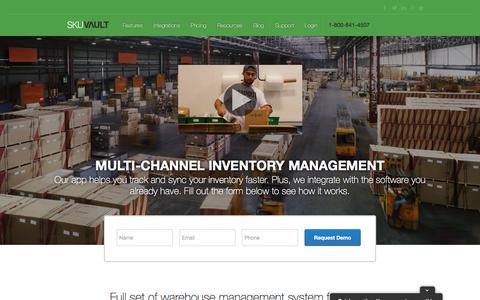 Screenshot of Home Page skuvault.com - SkuVault Warehouse Management System · Home - captured Feb. 24, 2018