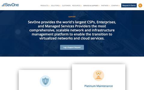 Screenshot of Support Page sevone.com - SUPPORT   SevOne - captured Jan. 21, 2019