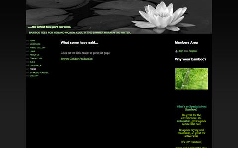 Screenshot of Press Page webs.com - .....the softest tees you'll ever wear. - Press - captured Sept. 16, 2014