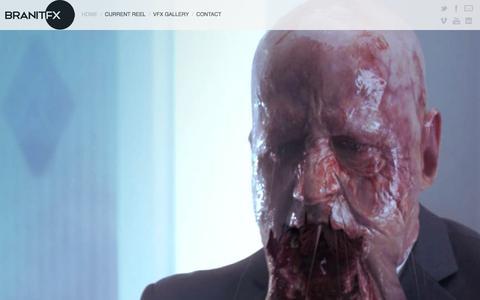Screenshot of Home Page branitfx.com - Branit FX - captured Jan. 7, 2016