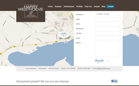 Screenshot of Contact Page harrywesthoeve.nl - Contact » Harry Westhoeve Keuken en Interieurbouw Harry Westhoeve Keuken en Interieurbouw - captured Oct. 2, 2014