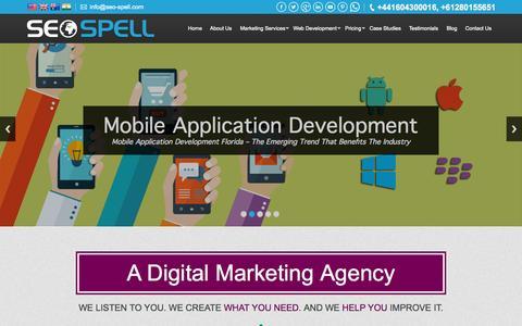 Screenshot of Home Page seo-spell.com - SEO Agency | Web Design Company Miami | Ecommerce Website Design Miami - captured Sept. 16, 2015