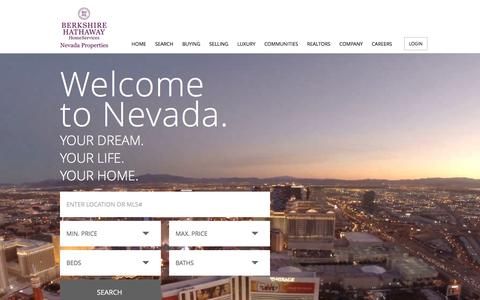 Screenshot of Home Page bhhsnv.com - Las Vegas Homes - captured May 3, 2016