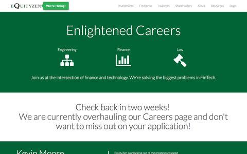 Screenshot of Jobs Page equityzen.com - Careers | EquityZen - captured Jan. 20, 2018