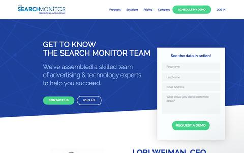 Screenshot of Team Page thesearchmonitor.com - Ken says… - captured Jan. 18, 2018