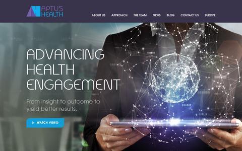 Screenshot of Home Page quantia-inc.com - Aptus Health - captured April 4, 2016