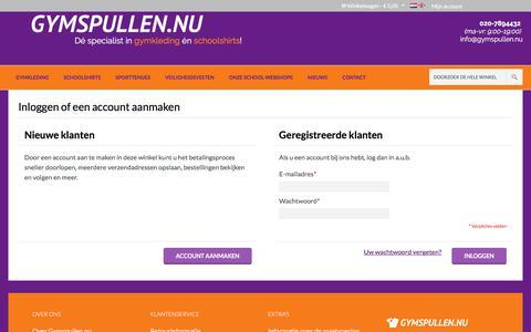 Screenshot of Login Page gymspullen.nu - Klant-login - captured Sept. 25, 2017