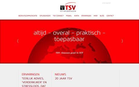 Screenshot of Home Page tsv-groep.nl - TSV-Groep | Welkom - captured Oct. 6, 2014