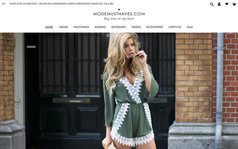 Screenshot of Home Page modemusthaves.com - Musthaves | Fashion & Lifestyle by ModeMusthaves - captured Aug. 8, 2015