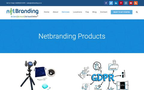 Screenshot of Products Page netbranding.co.nz - Products - Net Branding Limited - captured Oct. 18, 2018