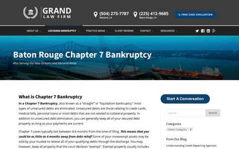 Baton Rouge Chapter 7 Bankruptcy Attorney - Grand Law Firm