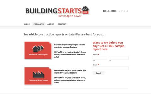 Screenshot of Products Page buildingstarts.co.uk - Featured Products - Building Starts - captured Oct. 5, 2014