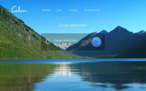 Screenshot of Signup Page calm.com - Calm - Meditation Programs - captured May 2, 2017