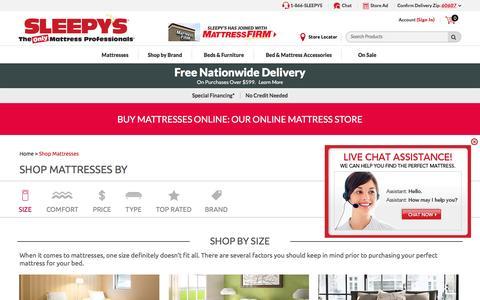 Mattresses & Beds: Buy Mattresses & Beds Online | Sleepy's