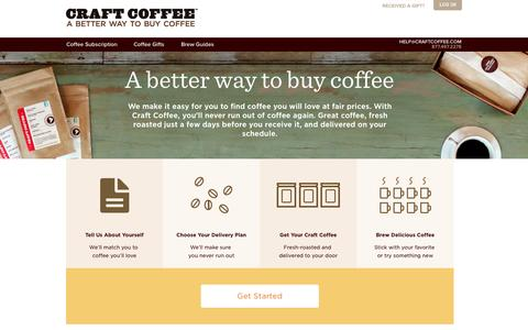 Screenshot of About Page craftcoffee.com - Better Way to Buy Coffee | Craft Coffee - captured Oct. 21, 2015