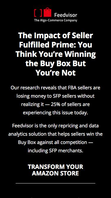 The Impact of Seller Fulfilled Prime: You Think You're Winning the Buy Box But You're Not | Feedvisor